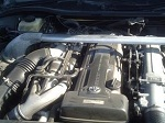aristo 2jz turbo engine half cut